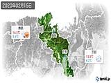 2020年02月15日の京都府の実況天気
