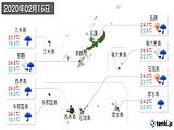 2020年02月16日の沖縄県の実況天気