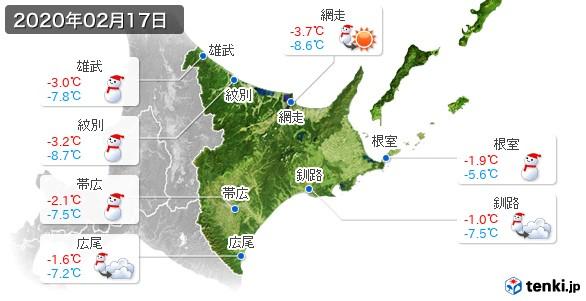 道東(2020年02月17日の天気