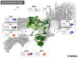 2020年02月18日の近畿地方の実況天気