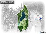 2020年02月18日の滋賀県の実況天気