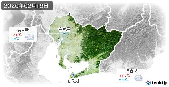 愛知県(2020年02月19日の天気