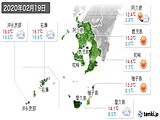 実況天気(2020年02月19日)
