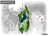 2020年02月21日の滋賀県の実況天気
