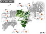 2020年02月24日の近畿地方の実況天気