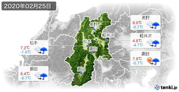 長野県(2020年02月25日の天気