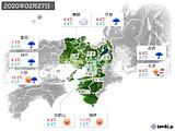 2020年02月27日の近畿地方の実況天気