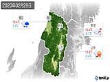 2020年02月29日の山形県の実況天気