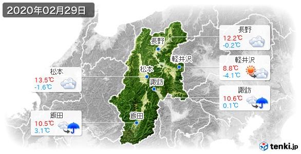 長野県(2020年02月29日の天気