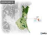 2020年03月01日の茨城県の実況天気