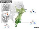 2020年03月01日の千葉県の実況天気