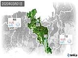 2020年03月01日の京都府の実況天気