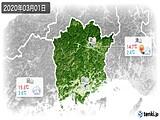 2020年03月01日の岡山県の実況天気