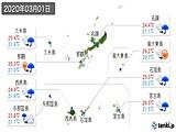 2020年03月01日の沖縄県の実況天気
