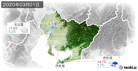 愛知県(2020年03月01日の天気