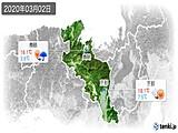 2020年03月02日の京都府の実況天気