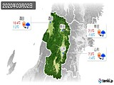 2020年03月02日の山形県の実況天気