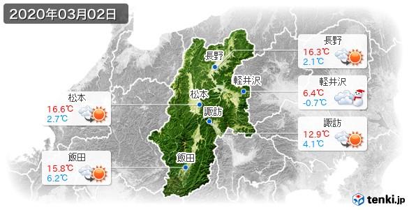 長野県(2020年03月02日の天気