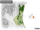 2020年03月03日の茨城県の実況天気