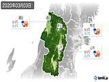 2020年03月03日の山形県の実況天気