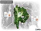 2020年03月05日の山梨県の実況天気