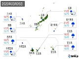 2020年03月05日の沖縄県の実況天気