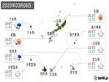 2020年03月06日の沖縄県の実況天気