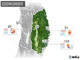 2020年03月06日の岩手県の実況天気