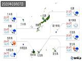 2020年03月07日の沖縄県の実況天気