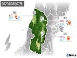 2020年03月07日の山形県の実況天気