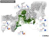 2020年03月08日の東海地方の実況天気