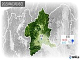 2020年03月08日の群馬県の実況天気