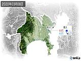 2020年03月08日の神奈川県の実況天気