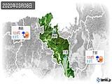 2020年03月08日の京都府の実況天気