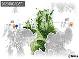 2020年03月08日の福岡県の実況天気