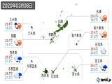 2020年03月08日の沖縄県の実況天気