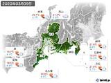 2020年03月09日の東海地方の実況天気