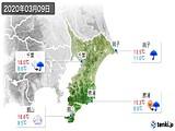 2020年03月09日の千葉県の実況天気