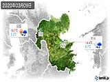 2020年03月09日の大分県の実況天気