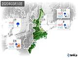 2020年03月10日の三重県の実況天気