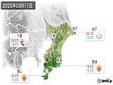 2020年03月11日の千葉県の実況天気