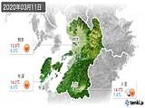 2020年03月11日の熊本県の実況天気