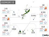 2020年03月11日の沖縄県の実況天気