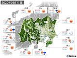 実況天気(2020年03月11日)