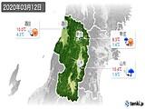 2020年03月12日の山形県の実況天気