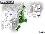 2020年03月15日の三重県の実況天気
