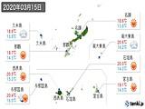 2020年03月15日の沖縄県の実況天気