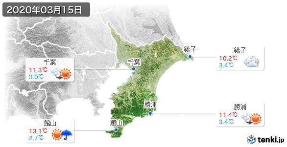 千葉県(2020年03月15日の天気