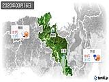 2020年03月16日の京都府の実況天気