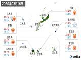2020年03月16日の沖縄県の実況天気